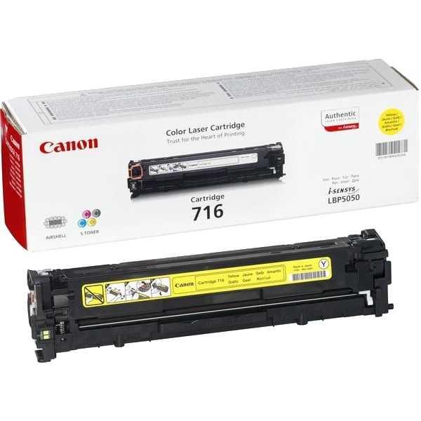 Заправка картриджа Cartridge 716 Yellow для Canon i-SENSYS LBP-5050
