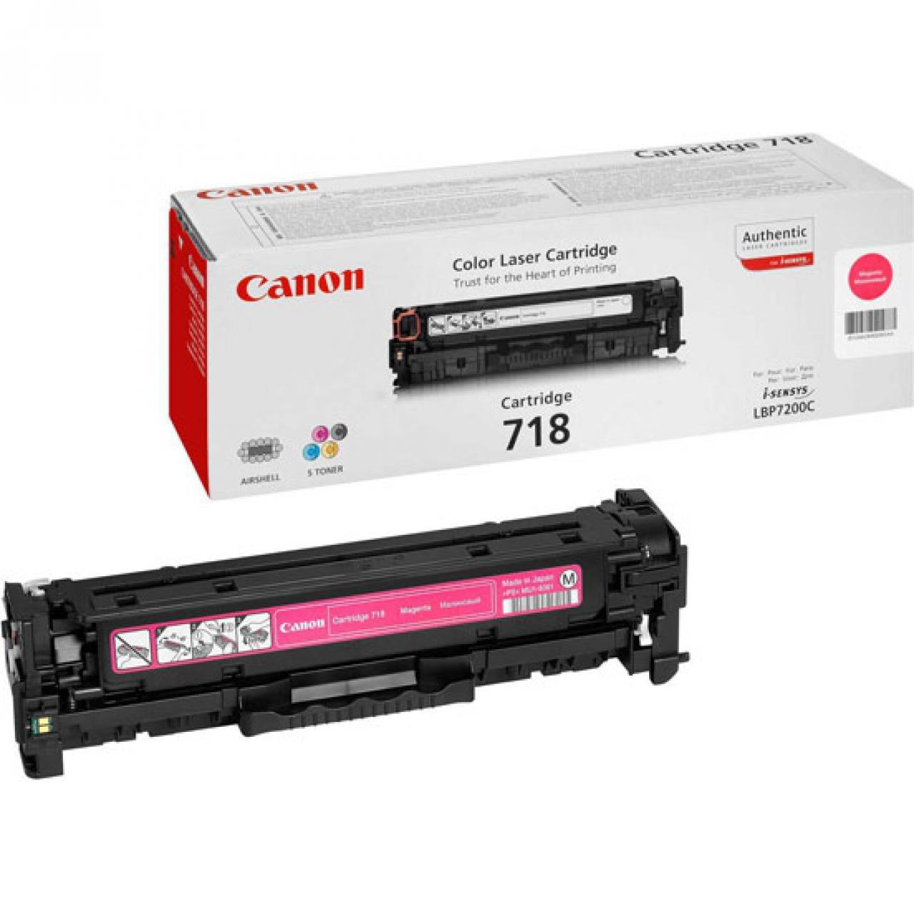 Восстановление картриджа Cartridge 718 Magenta для Canon i-SENSYS LBP-7200C