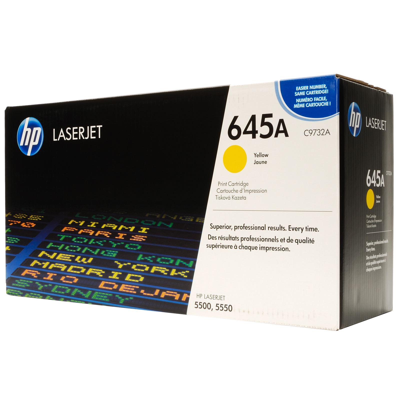 Заправка картриджа C9732A для HP Color LaserJet 5500