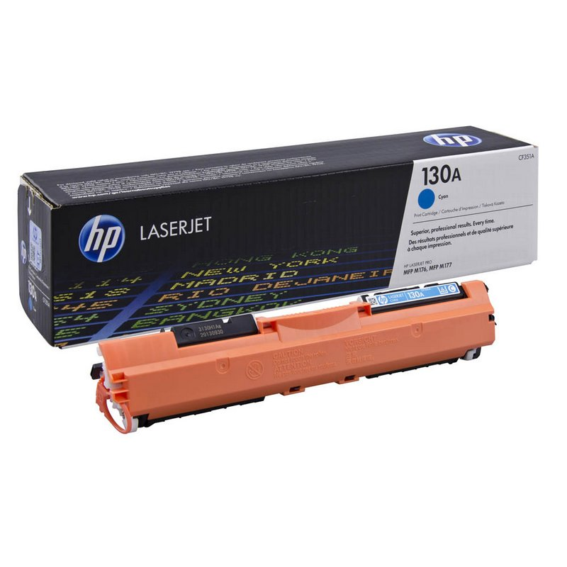 Заправка картриджа CF351A для HP Color LaserJet Pro M176