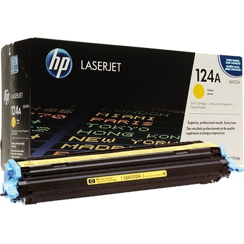 Заправка картриджа Q6002A для HP Color LaserJet 2600